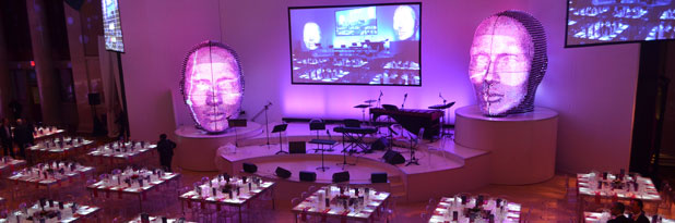 Professional & Creative event design services provided for Swiss Re corporate event