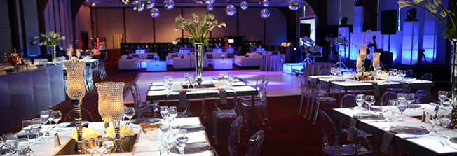 Outdoor tables, chairs, umbrellas, and seating arrangements for standard charter corporate professional nyc event
