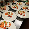 Small plate salad presentation makes Miami catering event to remember