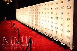 branded step and repeat rental