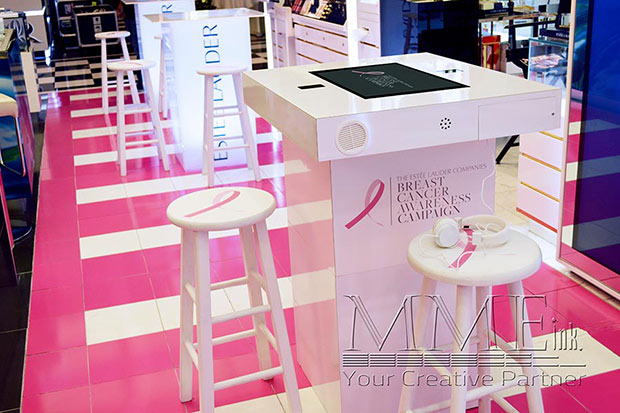 Estee Lauder branded touch table