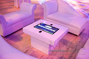 lounge decor rentals with touch table
